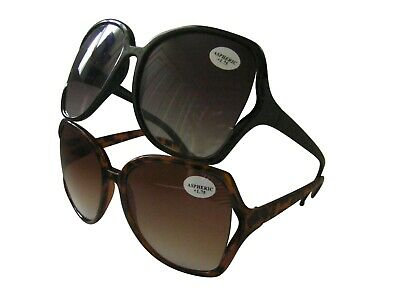 Sunreaders Designer Ladies Reading Sunglasses Large Oversized Frame UV  617