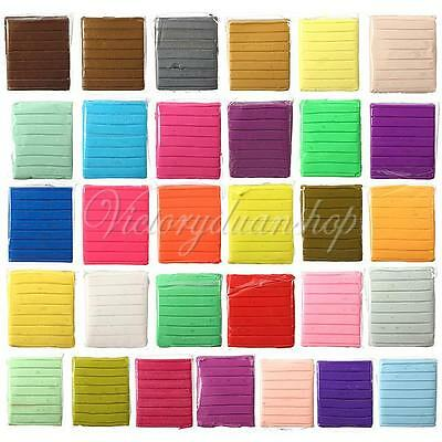 50g Malleable Soft Polymer Modelling Fimo Clay Blocks Plasticine DIY Crafts Toy