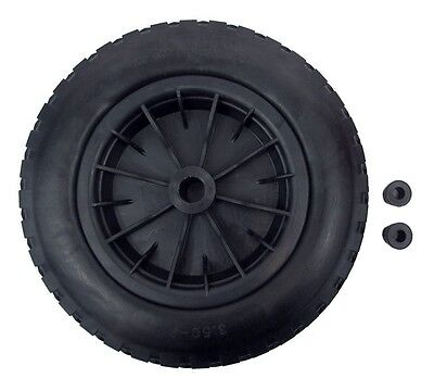 "PU 16"" Puncture Proof BLACK Wheelbarrow Wheel Tyre 4.80 - 8 Light Weight FOAM"