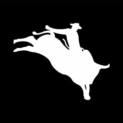 RO-01 - Rodeo Bull Rider vinyl graphic decal car window sticker 15 colors avail
