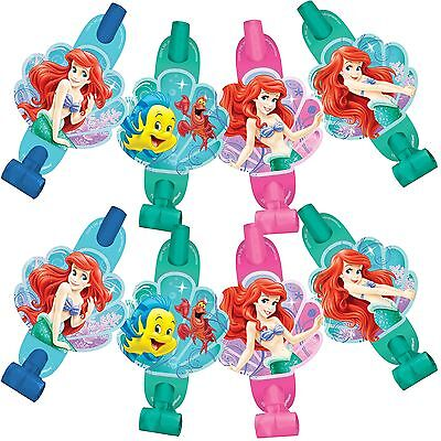 Disney Little Mermaid 8-ct Birthday Blowouts Birthday Party Favors Supplies~