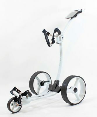 Chariot de golf Yorrx® Slim Lion Pro 5 **TOP-SET** Alu-Pushtrolley *blanc*