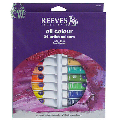 Reeves Artist Colour Oil 24 x 10ml Paint Tube Box Set
