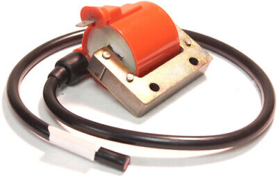 Emgo Universal Single Output Red Vintage Motorcycle Ignition Coil 24-71532