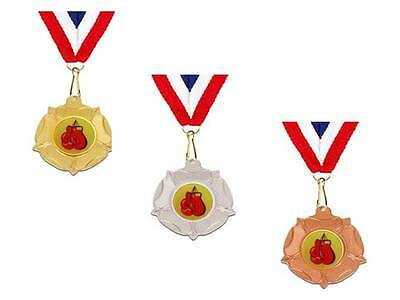 40 mm Boxing Medal trophy award gold silver bronze free engraving trophies