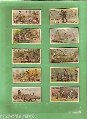 #d129. 1912 Set Of  50  British Empire  Cigarette Cards