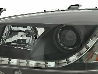 Vauxhall Astra Mk4 G 1998-2004 Black Drl Devil Eye R8 Projector Headlights Pair