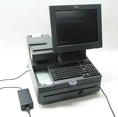 """IBM 4840-W63 POS 15"""" DISPLAY TOUCH SCREEN POINT OF SALE TERMINAL SYSTEM"""