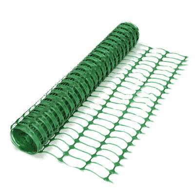 Green Plastic Mesh Barrier Safety Fence Netting - 1m x 50m. Event Garden Project