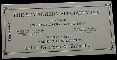 Blotter STATIONERY SPECIALTY Company MERIDEN CONNECTICUT