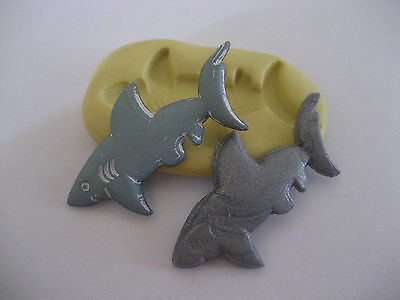 Flat shark 33mm flexible silicone mold for fondant chocolate clay etc