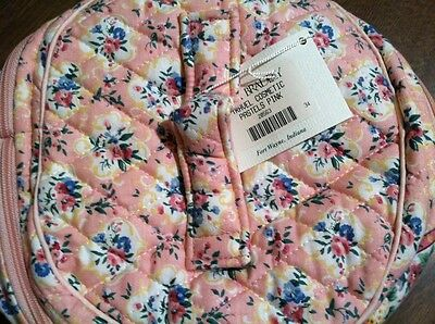 Vera Bradley Retired Rare Pastels Pink Travel Cosmetic With Tag
