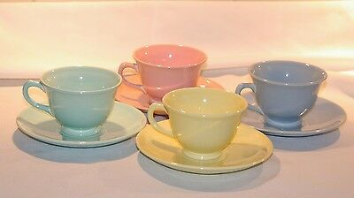 4 TS&T Luray Pastels Cups and Saucers - 4 Colors