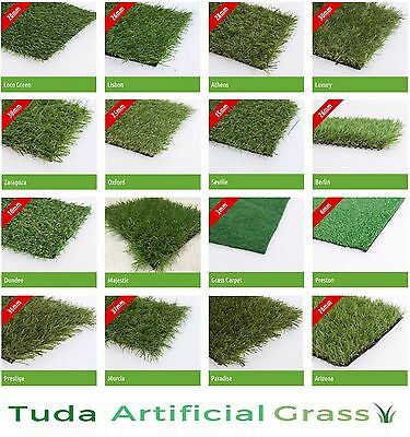 2m x 1m Astro Artificial Garden Grass Realistic Natural Looking Turf Fake Lawn
