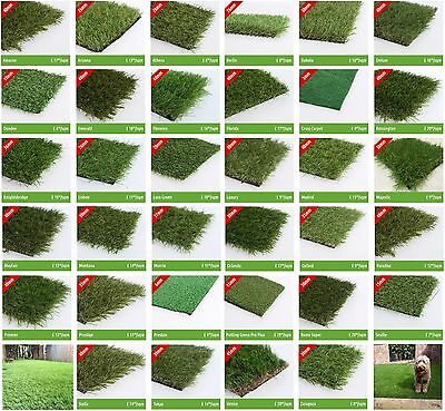 4m x 5m Astro Artificial Garden Grass Realistic Natural Fake Turf & Lawn