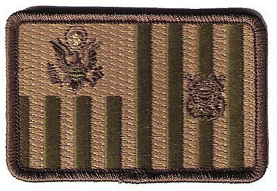 """Ensign flag woodland 3""""x2""""h small rounded W5444 USCG Coast Guard patch"""