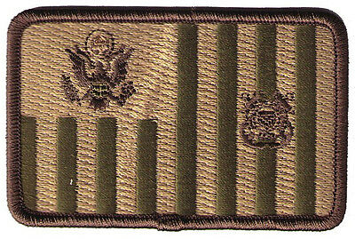 "Ensign flag woodland 3.5""x2.25""h medium W5452 USCG Coast Guard patch"