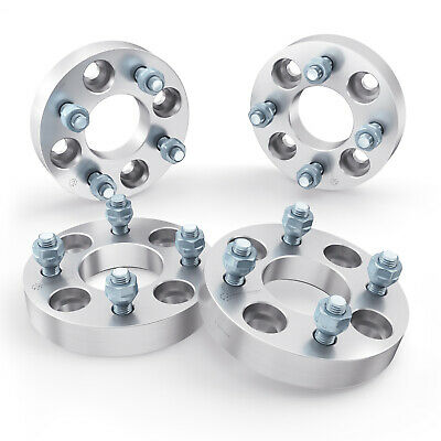 4pc | 25mm 4x114.3 to 4x100 Wheel Spacers Adapters | 12x1.5 for Acura Honda Kia