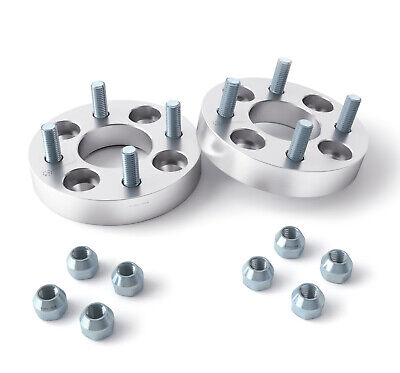 "32mm (1.25"") 4x114.3 to 4x100 Wheel Spacers Adapters 12x1.5 Stud for Honda Acura"