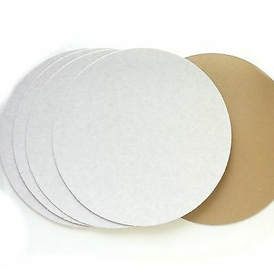 Cake card 5 pizza bases 12 inch 30cm board circle disk rounds badgemaking craft