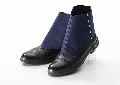 Roaring 20's Navy Blue Gangster Spats Shoe Covers Adult Costume Accessory