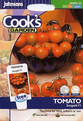 Johnsons Seeds - Pictorial Pack - Vegetable - Tomato Sungold F1 - 10 Seeds