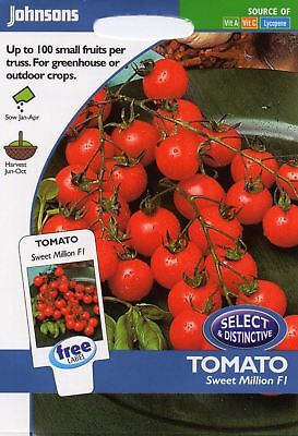 Johnsons Seeds - Pictorial Pack - Vegetable - Tomato Sweet Million F1 - 20 Seeds