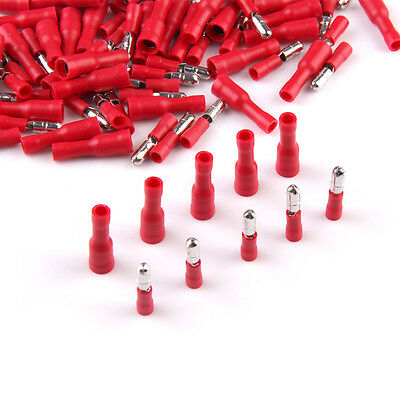 50 Pairs 4mm Female Male Bullet Butt Connector Electrical Crimp Terminals