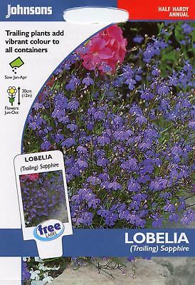 Johnsons Pictorial Pack - Flower - Lobelia (Trailing) Sapphire - 2000 Seeds