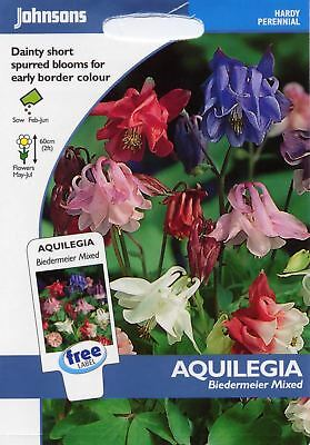 Johnsons Pictorial Pack - Flower - Aquilegia Biedermeier Mixed - 100 Seeds