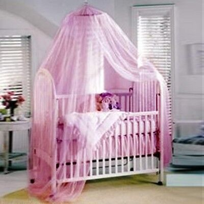 Pink Mosquito Net Canopy netting for baby Toddler Crib Bed Cot Nursery