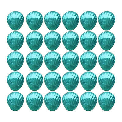 100 In Cadbury Chocolate Shells Aqua Blue-Beach Wedding Gifts Parties Promotions