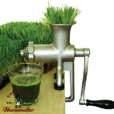 Miracle Stainless Steel Manual Wheatgrass Juicer MJ445~New ~ Pulp Ejection