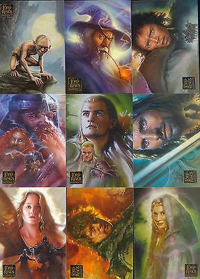 Lord Of The Rings Masterpieces 2006 Topps Complete Base Card Set Of 90 Movie