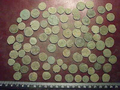 Lot of 85 Authentic Ancient Roman Coins   Mostly 3rd to 5th Centuries A.D. 12364