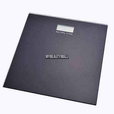 180KG/400LB Digital Glass LCD Electronic Weight Body Bathroom Scale Battery