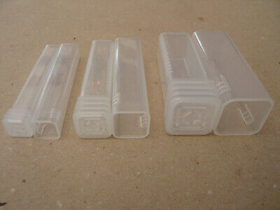 Small Plastic Tubes -Two Different Sizes - Felting Needles Cases