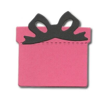 15 Die cut Gift and Bow sizzix assorted colour present birthday xmas 5x4.5cm