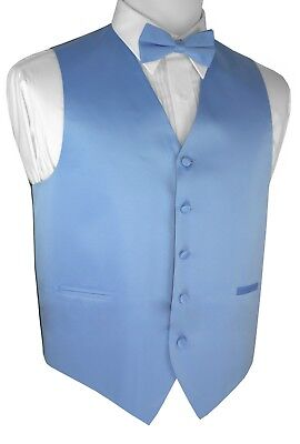 Boy's 2 - Men's 6XL. Cornflower Formal Dress Tuxedo Vest. Wedding Prom