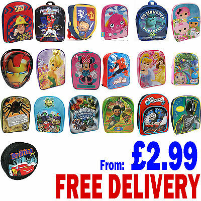 Kids School Bag Backpack Rucksack PE Shoulder Bags For Boys & Girls Brand New