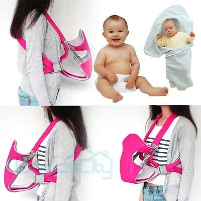 Newborn Baby Infant Adjustable Carrier Sling Wrap Rider Backpack Pouch Ring