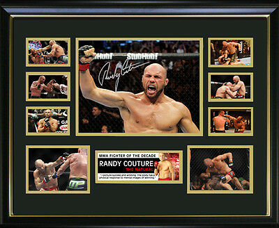 Randy Couture Signed Framed Memorabilia