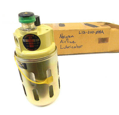 USED NORGREN AIRLINE LUBRICATOR L12-200-0PPA (Inlet 150 PSIG Max)