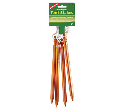 Tent Stake 4 pack Coghlans Ultralight Anodized Aluminum Stakes for Tent and Tarp