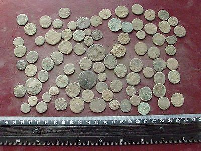 Lot of 85 Authentic Ancient Roman Coins   Mostly 3rd to 5th Centuries A.D. 12361