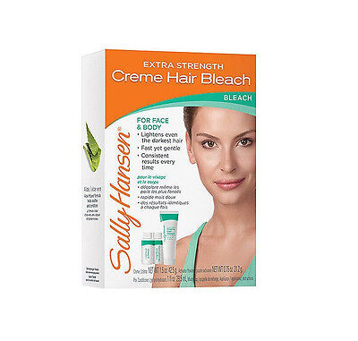 SALLY HANSEN Creme Hair Bleach for Face & and Body Extra Strength made in USA