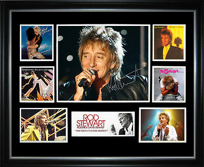 Rod Stewart Signed Framed Memorabilia