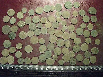 Lot of 85 Authentic Ancient Roman Coins   Mostly 3rd to 5th Centuries A.D. 12367