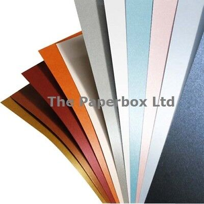 A4 Centura Pearl & Shimmer Pearlescent Card, choose colour, double, single sided