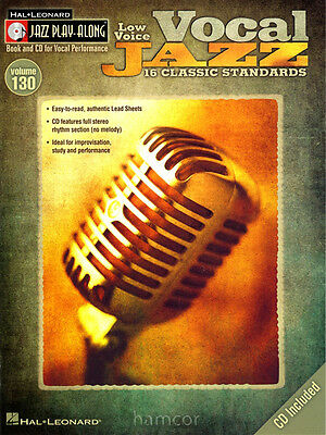 Vocal Jazz Low Voice Jazz Play-Along 130 Sing Classic Standards Music Book/CD